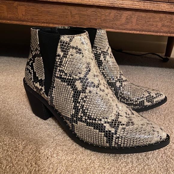 Target Shoes   Snakeskin Booties   Poshmark